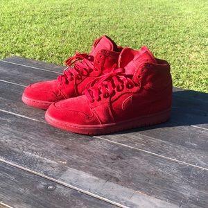 Jordan 1 red suede